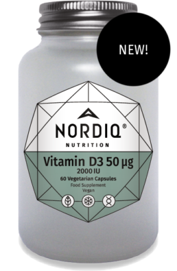 Do not forget the important vitamin D3!